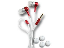 ECOUTEUR STEREO INTRA-AURICULAIRE AL15-RED